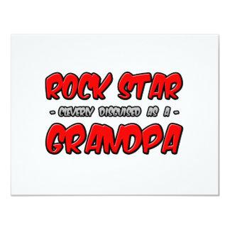 Rock Star...Grandpa 11 Cm X 14 Cm Invitation Card