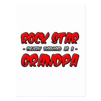 Rock Star Grandpa Postcards