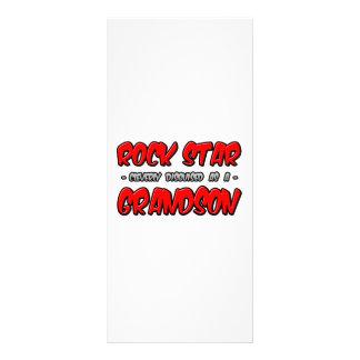 Rock Star...Grandson Full Color Rack Card