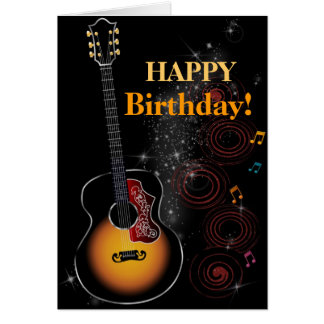 Rock star - greeting map greeting card