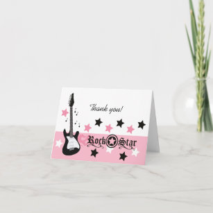 guitar thank you cards zazzle uk