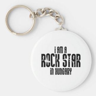 Rock Star In Hungary Key Ring