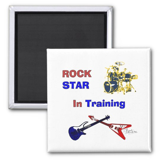 Rock Star In Training Square Magnet