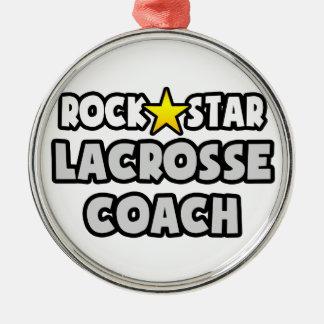 Rock Star Lacrosse Coach Ornaments