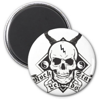 Rock Star Ledgends 6 Cm Round Magnet