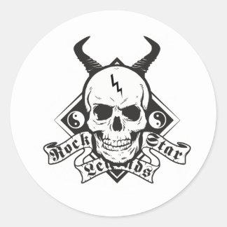 Rock Star Ledgends Round Sticker