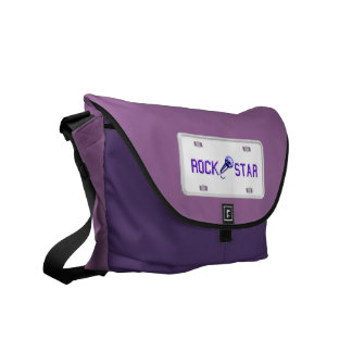 Rock Star License Plate Messenger Bag
