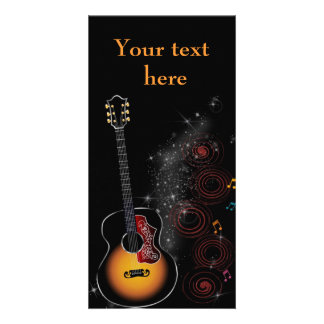 Rock star - map photo card template