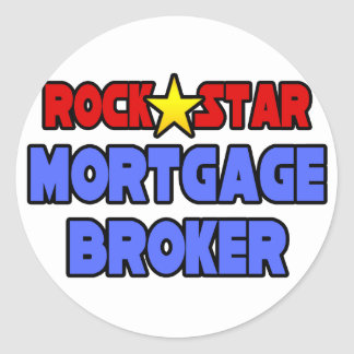 Rock Star Mortgage Broker Round Sticker