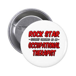 Rock Star Occupational Therapist Pin
