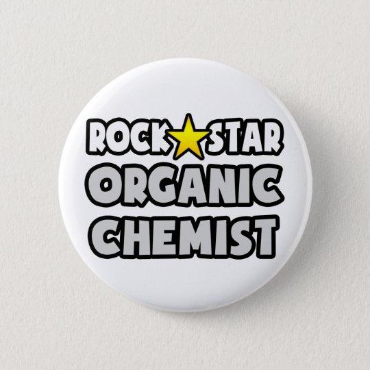 Rock Star Organic Chemist 6 Cm Round Badge