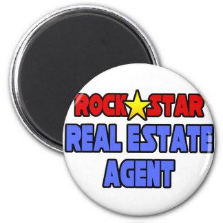 Rock Star Real Estate Agent Fridge Magnet