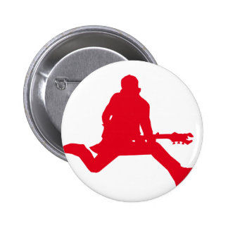 Rock Star Red Pinback Buttons