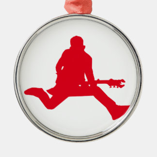 Rock Star Red Christmas Ornament