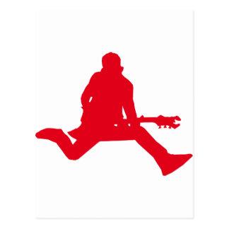 Rock Star Red Postcard