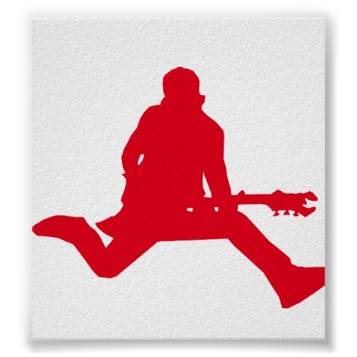 Rock Star Red Print