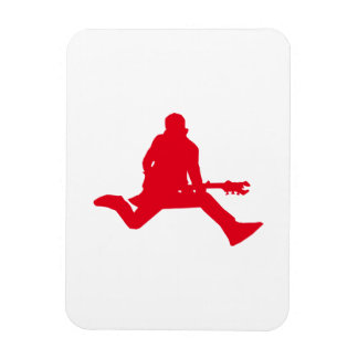 Rock Star Red Rectangle Magnet