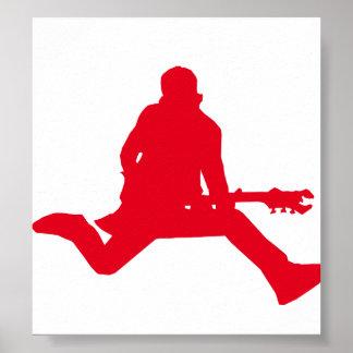 Rock Star Red Print