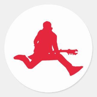 Rock Star Red Round Sticker