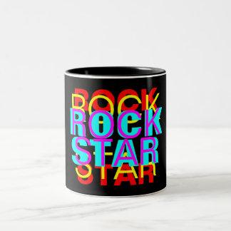 ROCK, STAR, ROCK, STAR, ROCK, STAR, ROCK, STAR Two-Tone MUG