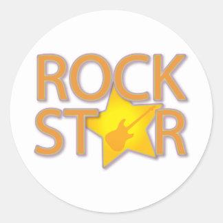 Rock Star Round Sticker