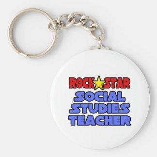 Rock Star Social Studies Teacher Key Ring