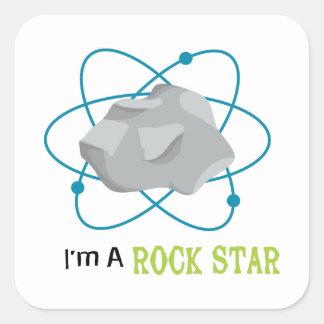 Rock Star Square Sticker