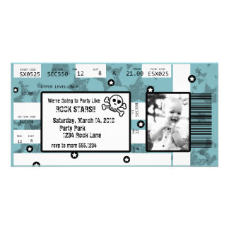 Rock Star Ticket Invitation or Thank You Card