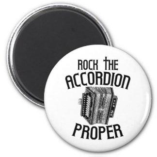 Rock the Accordion Proper Refrigerator Magnet
