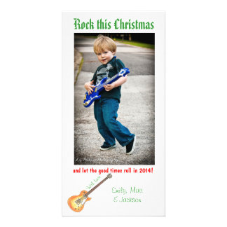 Rock This Christmas photo card