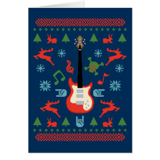 Rock Ugly Sweater Tees Greeting Card