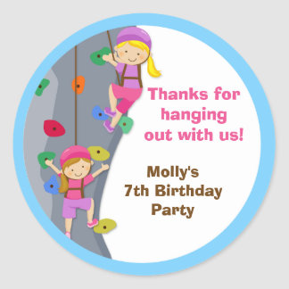 Rock Wall Birthday Party Favour Stickers