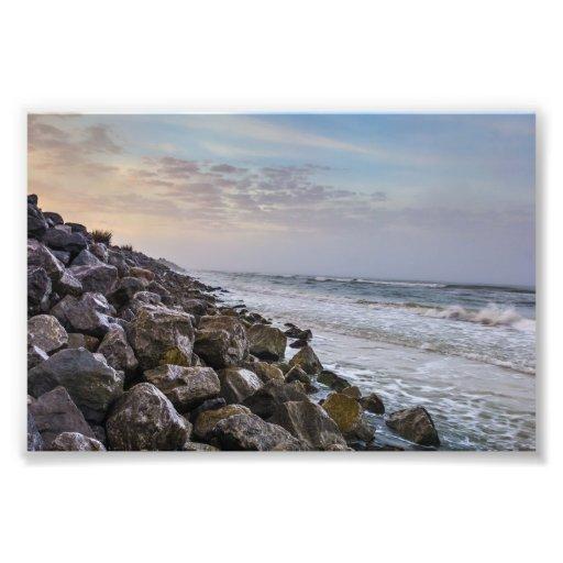 Rock Wall Cape San Blas Florida Photo