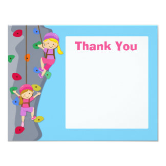 Rock Wall Climbing Party Thank You Card