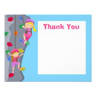 Rock Wall Climbing Party Thank You Card Invites