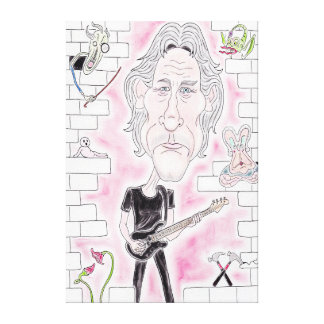 Rock Wall Funny Caricature Drawing Canvas