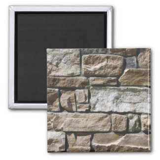 Rock Wall Square Magnet