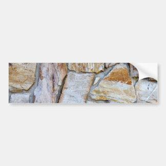 Rock Wall Texture Photo Bumper Sticker Version 2