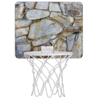 Rock Wall Texture Photo on Mini Basketball Hoop