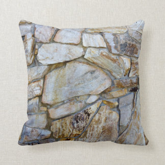 Rock Wall Texture Photo on Pilllow Cushion