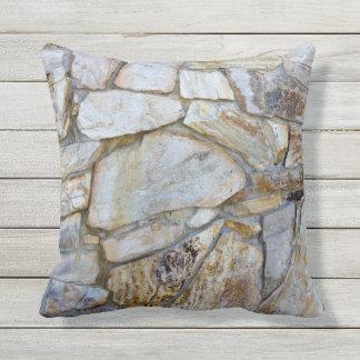 Rock Wall Texture Photo on Pilllow Outdoor Cushion