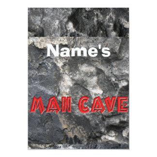 ROCK WALL TEXTURE TEXT MAN CAVE 13 CM X 18 CM INVITATION CARD