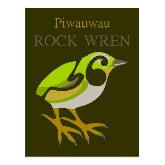 Rock Wren, South Island, NZ bird Post Card
