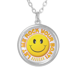 Rock Your Boat Smiley Personalized Necklace