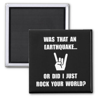 Rock Your World Square Magnet