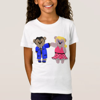 Rockabilly Boy and Girl Teddy Bear Couple T-Shirt