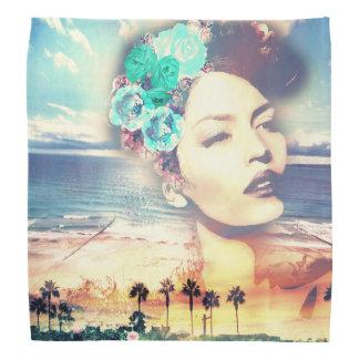 Rockabilly California Palms Coastal Summer Woman Bandana
