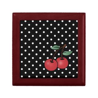 rockabilly cherrie classic design fro keepsake box