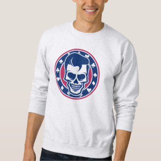 Rockabilly Greaser Hairstyle Skull and Aces Sweatshirt