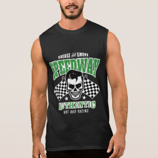 Rockabilly Hot Rod Racer Skull Sleeveless Shirt
